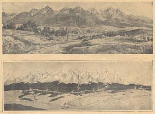 Tátra-panoráma 1926-ból