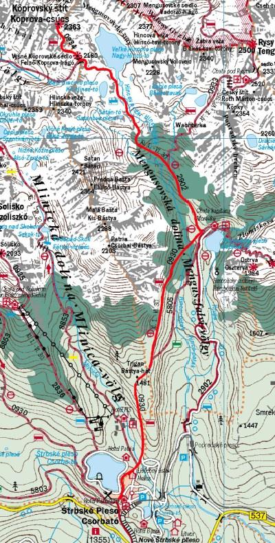 Térkép a Kapor-csúcsra
