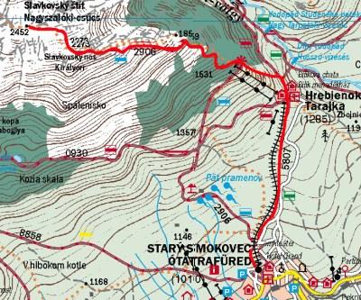 Térkép a Nagyszalóki-csúcsra