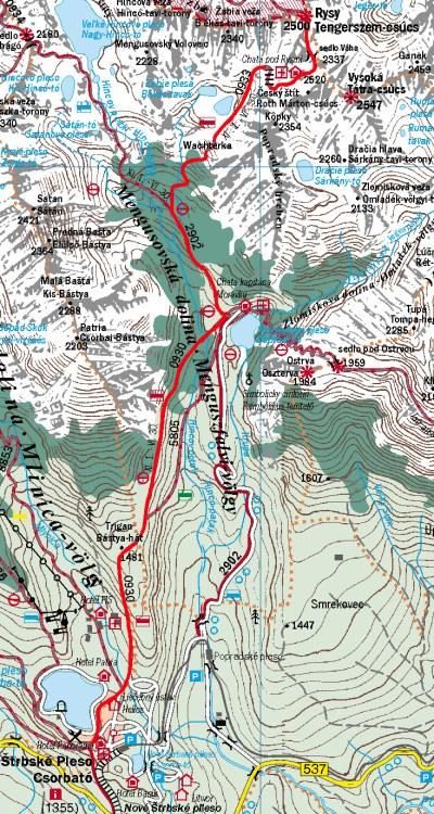 Térkép a Tengerszem-csúcsra